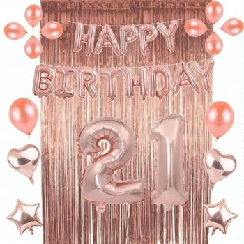 Rose Gold 1 Set Foil Latex Balloon Bunting Helium Wedding Birthday Party Decoration