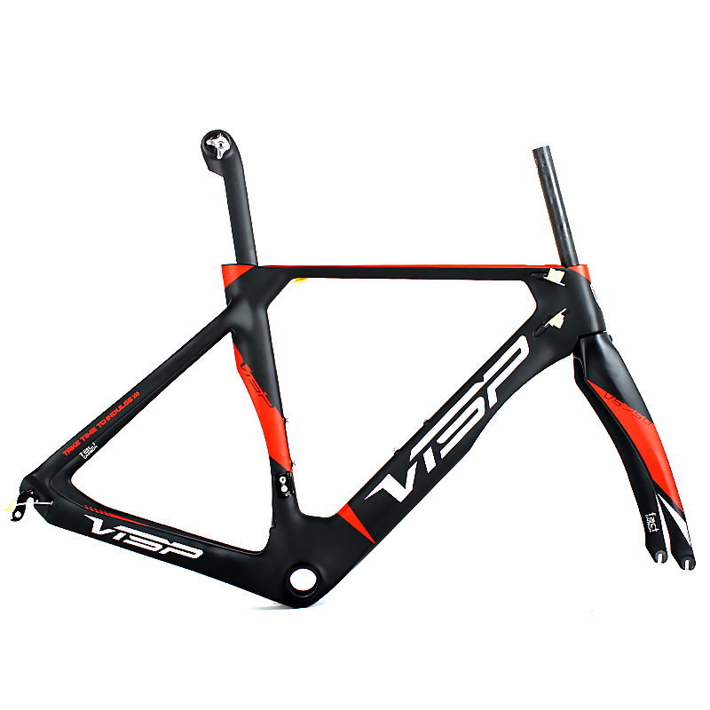 2017 Chinese toray t1000 carbon fiber road bike frame 60 cm