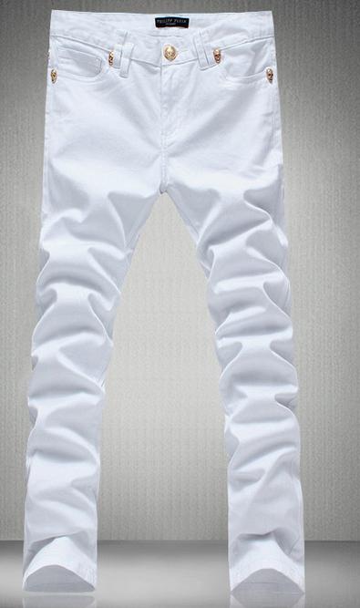Mens White Designer Jeans Bbg Clothing