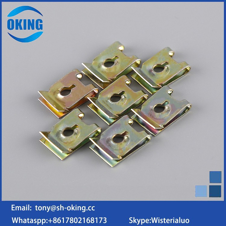 custom High quality black spring steel u clip nut