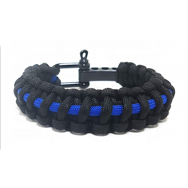 Home & Garden Police thin Blue Line Paracord Bracelet*skull*law Enforcement Fine Workmanship