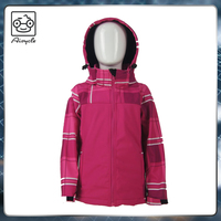 Colorful fashion print high quality childrens outdoor activity jacket