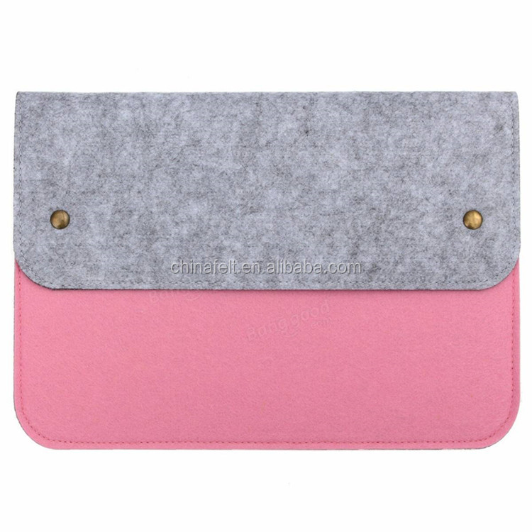 Felt laptop sleeve bag with various types