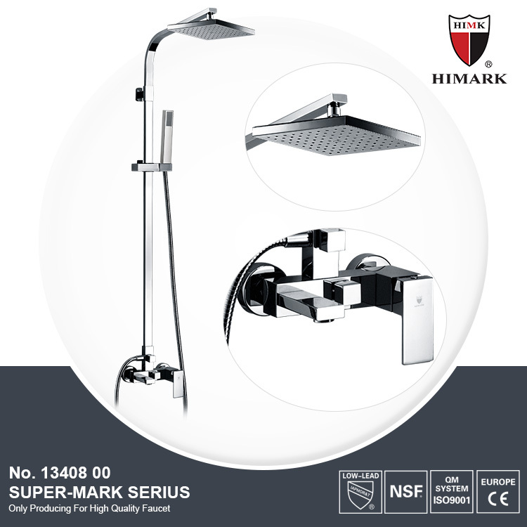 Golf bathroom set surface mounted rain shower faucet