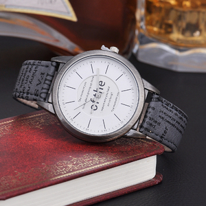 Fashion Casual Leather Strap Vintage Men Wrist Watch Business Timepiece