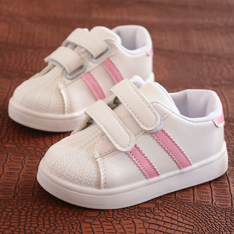 New arrival classic style white children shoes 2017