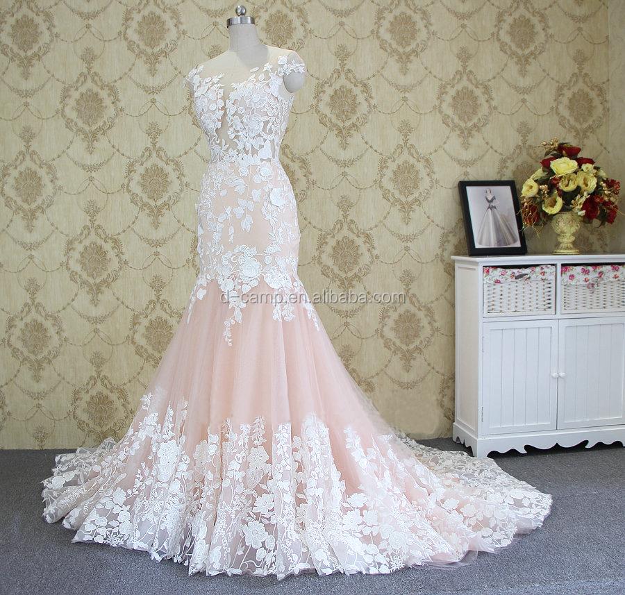 Mermaid Pink Wedding Dress