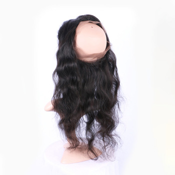 Cuticle aligned virgin hair vendors 360  lace fronta