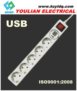 electric socket with 1000mA USB charge 16A/250V universal electric socket
