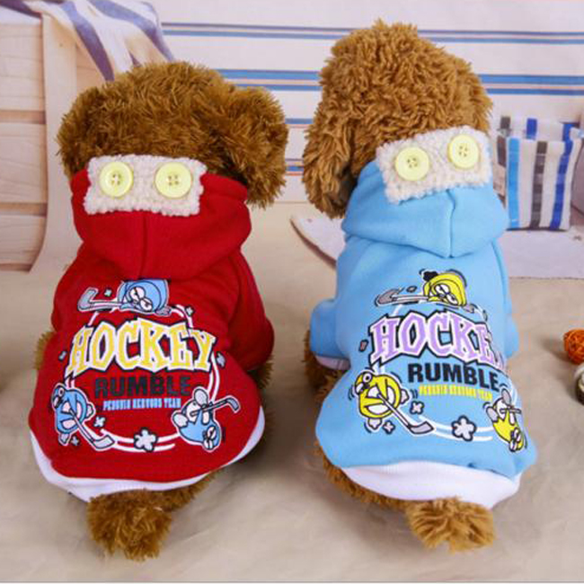 Pets Large Size Clothes Cute Dog Hockey Hoodie Wholesale