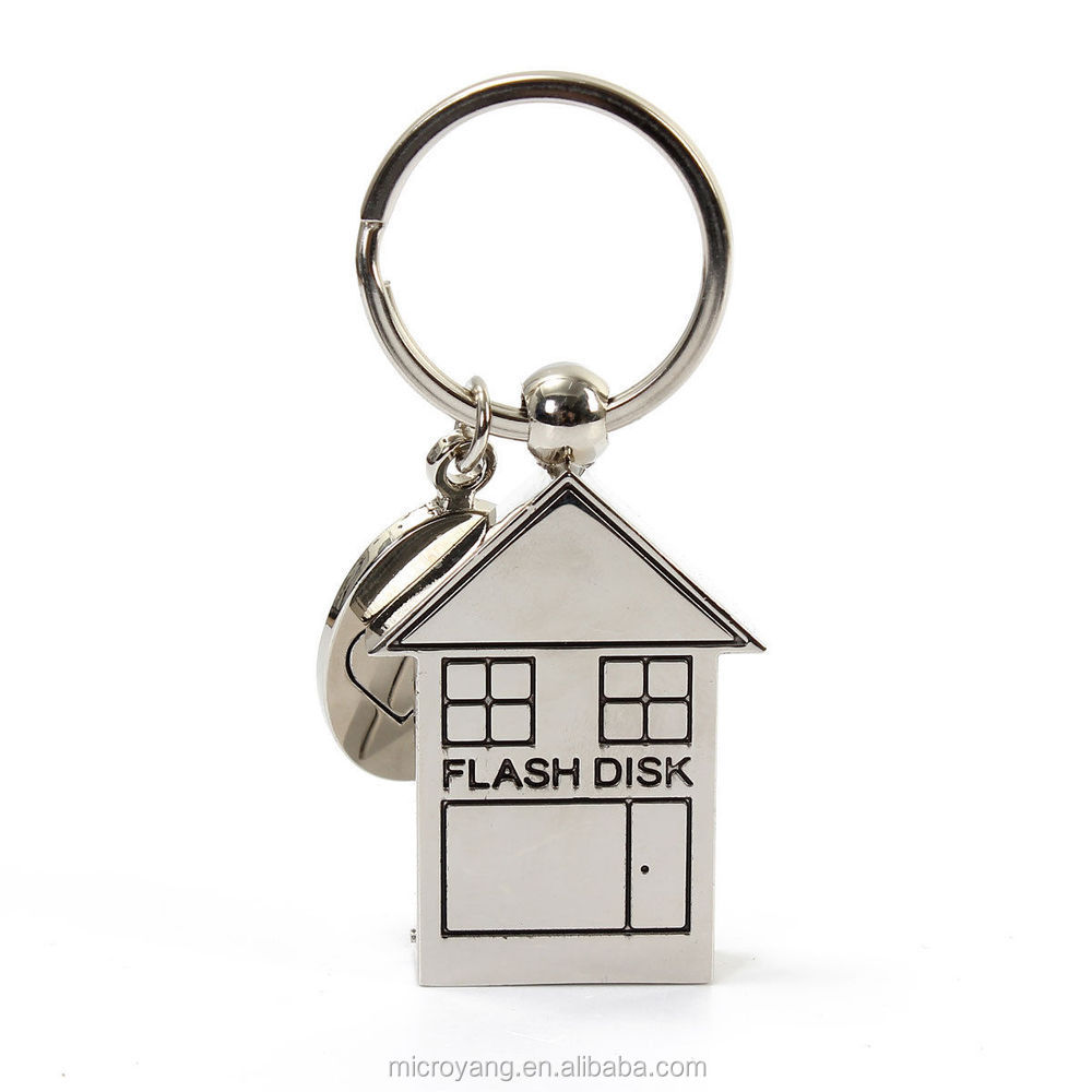 32G USB 2.0 Lovely House Swivel Design Flash Memory Stick Pen Drive