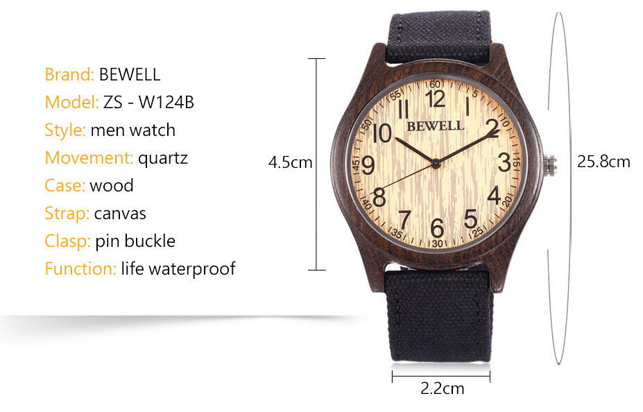 Wooden watches high quality bamboo wooden watches with japanese movement for man
