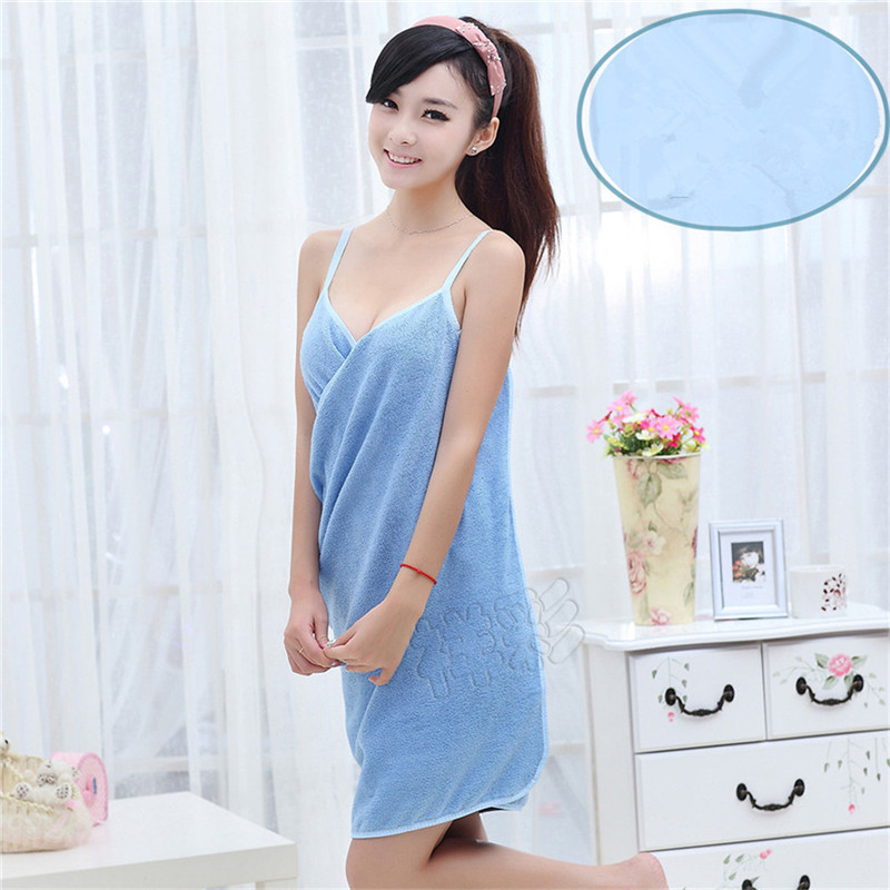 Fashion Beautiful Various Colors Microfiber Bath Towel Women Sexy Beach Party Dress