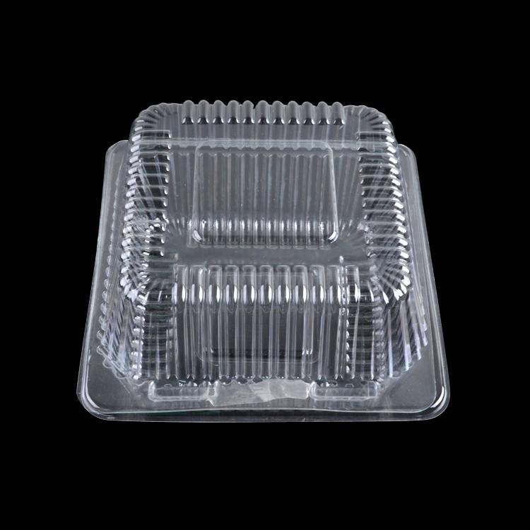 Rectangular transparente blister de pl stico caja de torta caja de embalaje pastel blister caja - Boite en plastique transparente ...