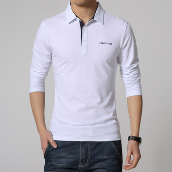 Wholesale egyptian cotton men work wear embroidery logo polo shirt long sleeve men