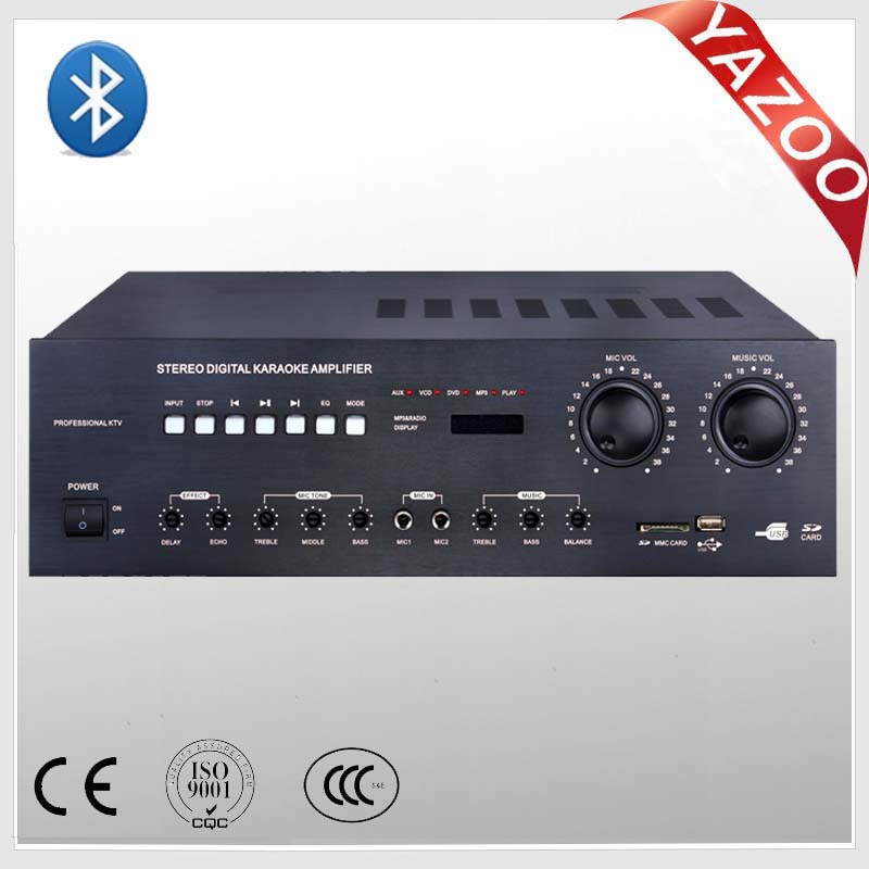 YAZOO DB-8100 100W*2 professional mixer karaoke amplifier with USB/SD/bluetooth for PA system