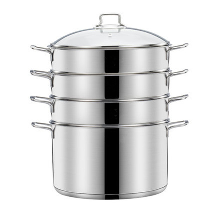 Multifunctional Cooware Set 3-Ply Stainless Steel Steamer 32cm