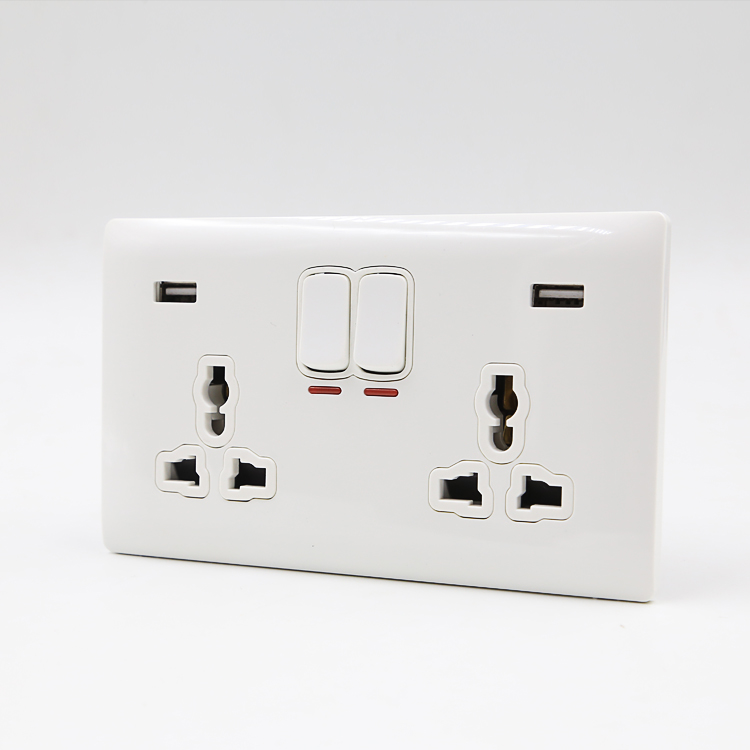 Stable quality best price UK BS standard euro usb wall socket 220v wall mount socket outlets
