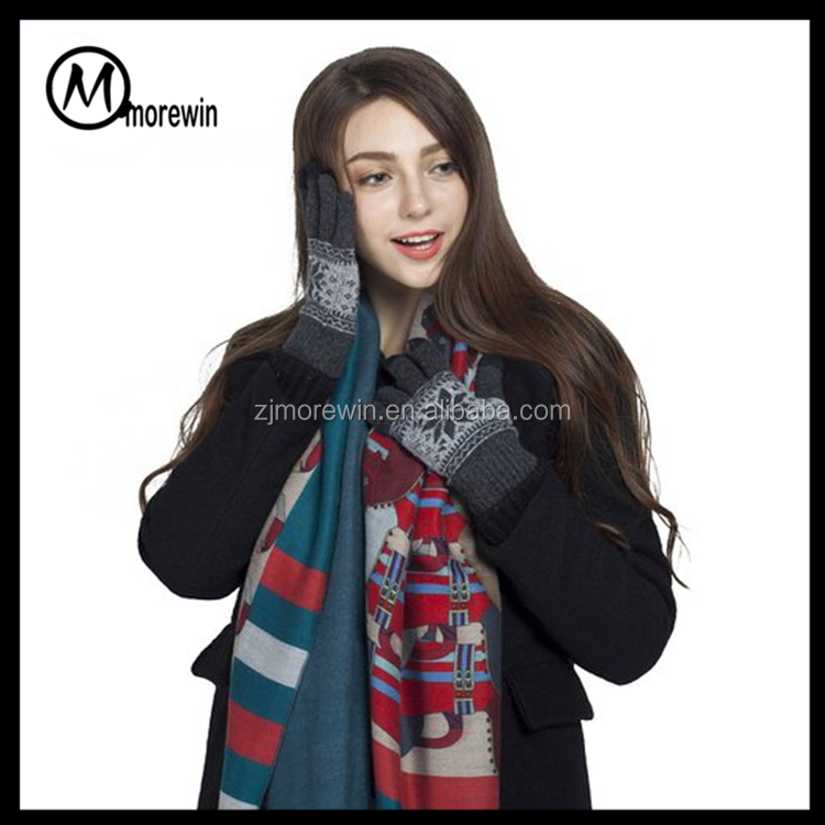 Morewin brand Christmas Lover Keep Warm Iphone Ipad smart Touch Screen Gloves