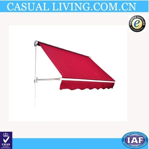 4' Drop Arm Manual Retractable Window Awning - Wine Red