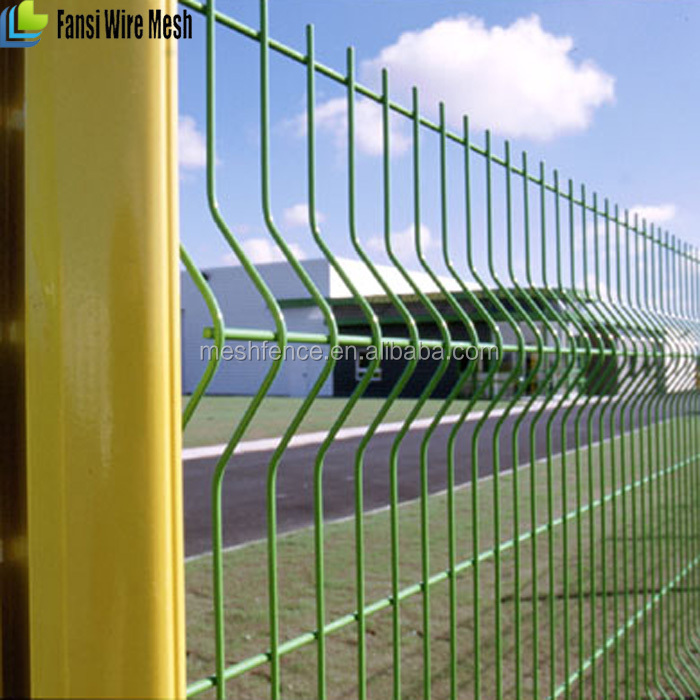 galvanized flat panel fence 3d fold peach post 70x100mm Welded Wire Mesh Panel/fence(manufacter)