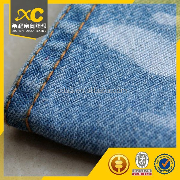 Good twill yard denim jeans fabric for pants