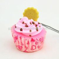 "2012 NEW ARRIVE Simulation/imitation food""CUP CAKE"" Mobile chain/strap,PVC fridge magnet,keychain"