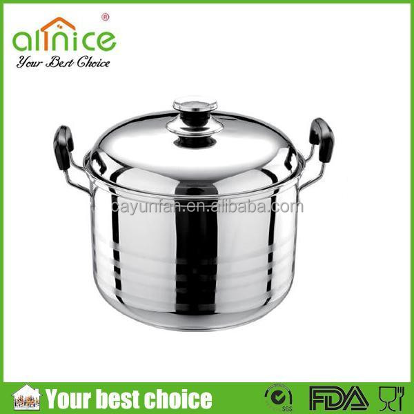 cookware stainless steel/American-style stockpot/deep kitchen cooking pot