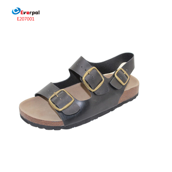 d797ef9ca Men Leather Cork Wooden Slippers Sandals - Buy Men Leather ...