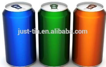The wholesales Aluminum can for beverage with easy open end