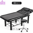 2019 simple metal white cheap massage bed salon spa bed with stool
