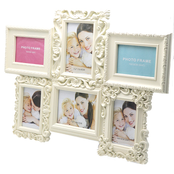 Custom Home Decor Modern Six Picture Frame Plastic Collage Photo ...