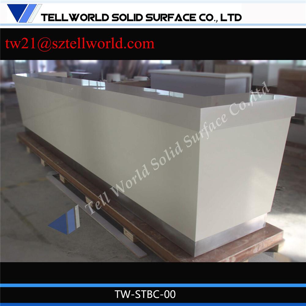 Lait couleur artificielle marbre construire un l forme - Construire un comptoir de bar ...