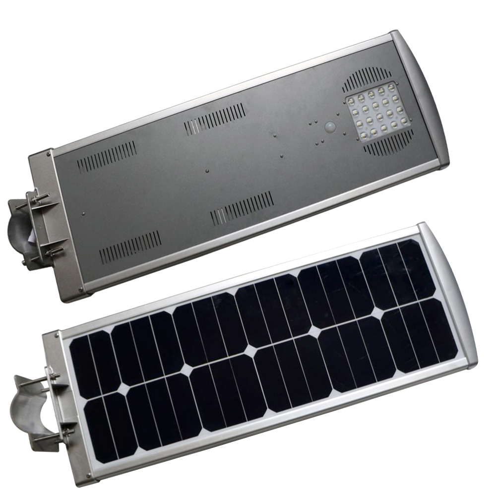 New Waterproof All In One LED Street Light 20W IP65 Aluminum Alloy Large Solar Lamp