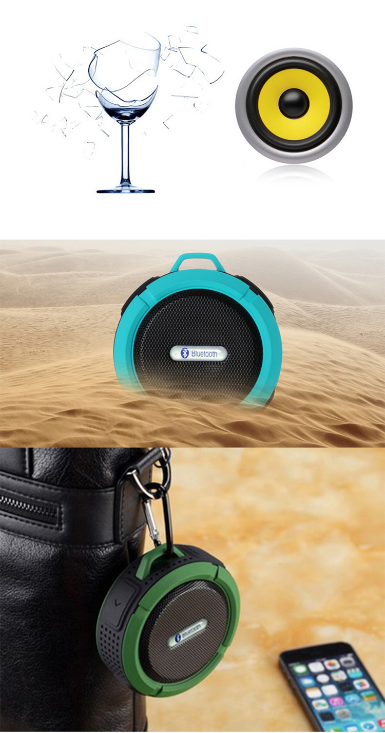 Mini Outdoor Portable Tahan Air Nirkabel Bluetooth Speaker Stereo IP65 Musik Subwoofer Speaker