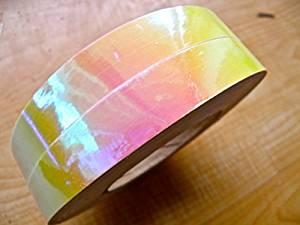 "60 ft. roll of 3/4"" Opal Sunset Metallic Hula Hoop Tape"