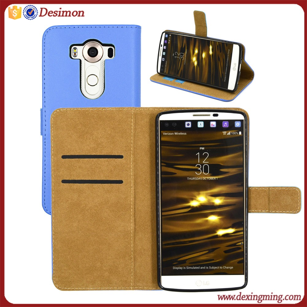 Custom genuine leather case for LG V10