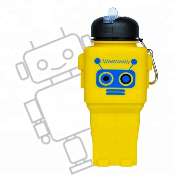 Custom Robot Fitness Silicone Water Bottle Drink <strong>Manufacturing</strong>