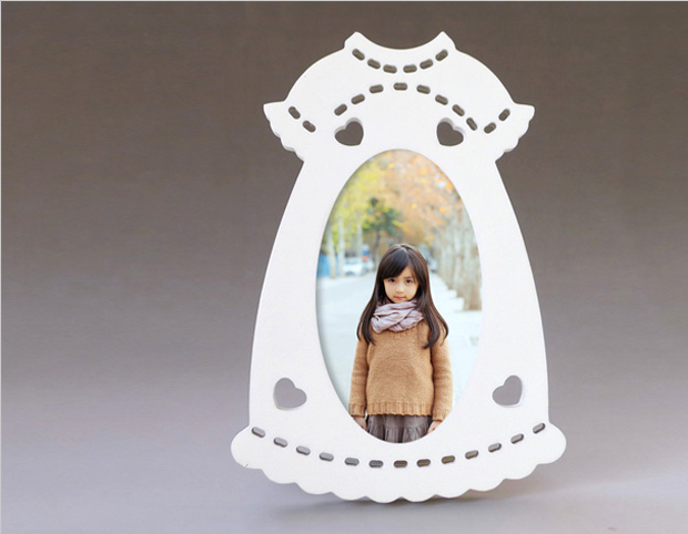 creative cloth shape wooden photo picture frame