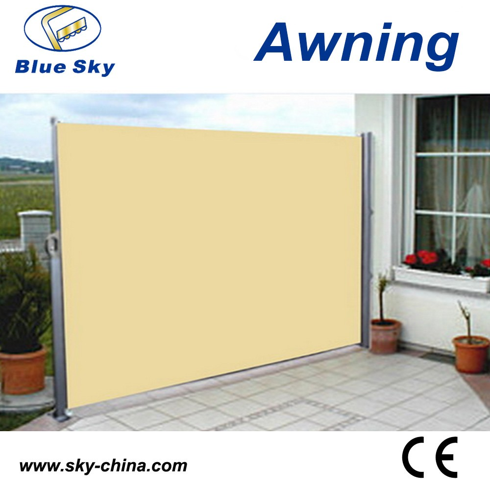 Outdoor Retractable Wind Screen Side Awning Screen For Balcony UV Proof
