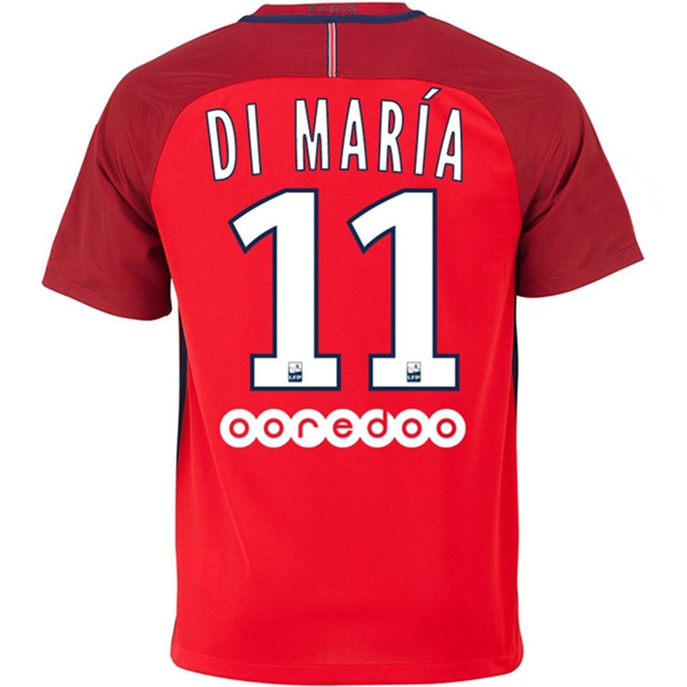 get quotations  paris saint germain fc 2016 2017 11 angel di maria away football soccer jersey in red