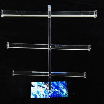 Hot Necklace Clear Bracelet Holder Display 3 Tier Stand Jewelry Accessories Unit Set