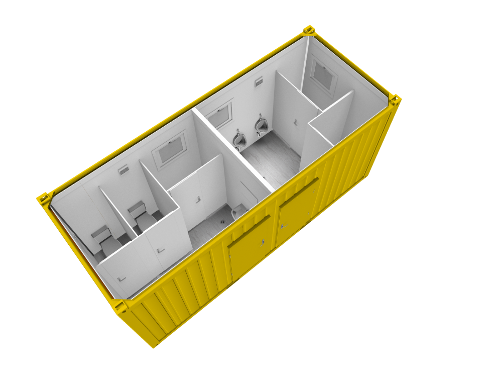 Low cost removable modern prefabricated container toilet for sale