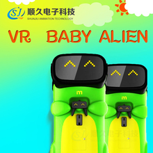 Dynamic effect vr amusement game machine Baby Alien simulator vr game machine with vr glasses