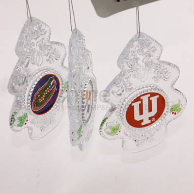 Acrylic delicate snowflake shaped ornament acrylic ornament