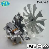 Small powerful electric motors Oven fan motor YJ61-16: 120/220v, 50/60hz electric motor, UL,VDE,CCC,CE