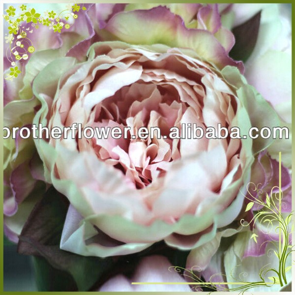 Wholesale High Quality Wedding Decortion Artificial Silk Peony Fake Flowers