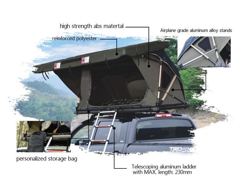 2 pessoas acampamento ao ar livre carro remoto elétrico casca dura telhado tenda superior