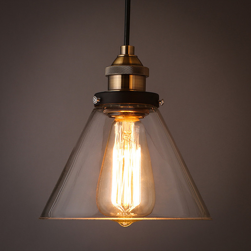 Vintage Industrial Glass Pendant Light: Aliexpress.com : Buy Loft Vintage Clear Glass Pendant