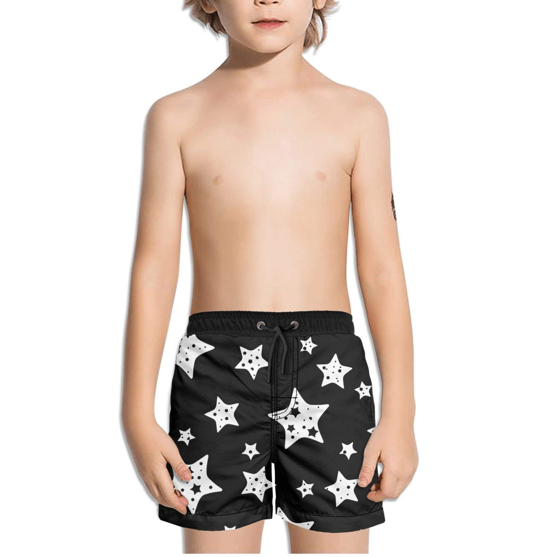 Ouxioaz Boys Swim Trunk Paint Blossom Flower Beach Board Shorts